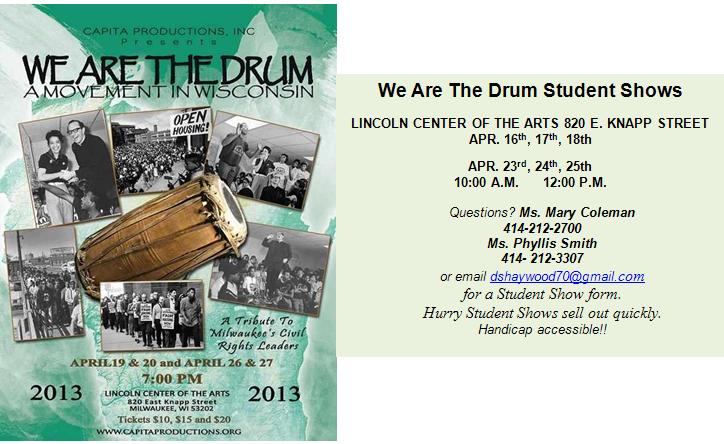 We Are THe Drum Student Show Flyer