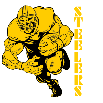 Steelers Logo BIZ CARD GOLD 2