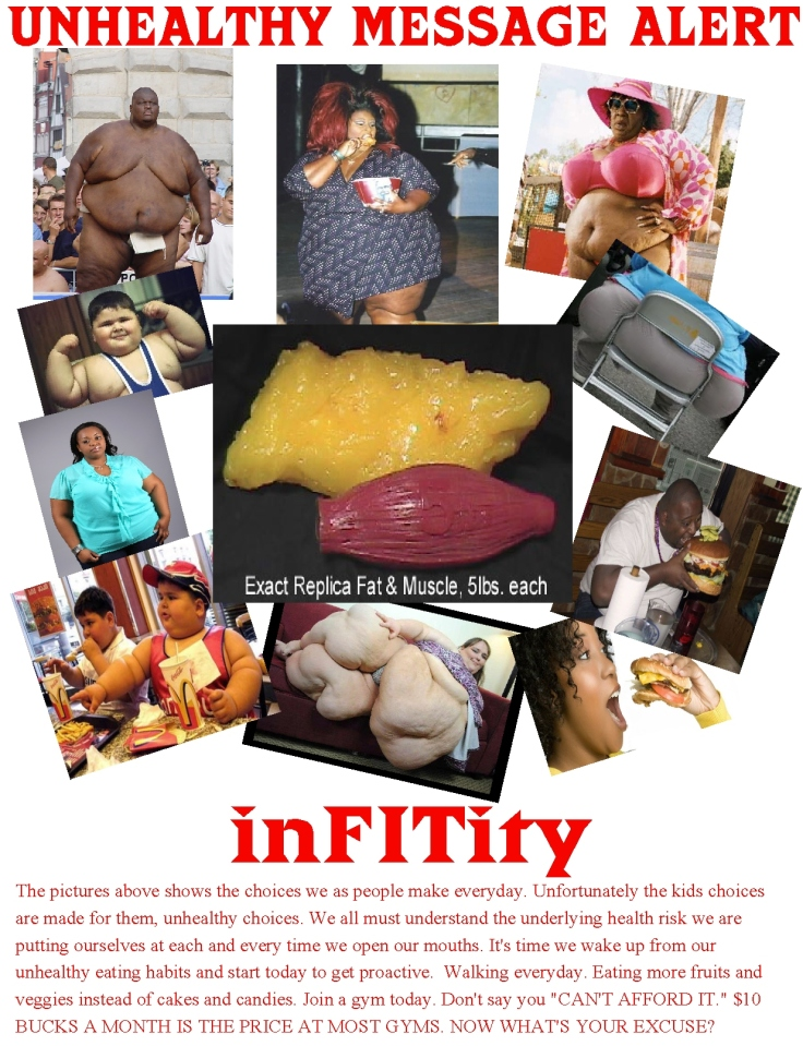 inFITity's Unhealthy Message Alert