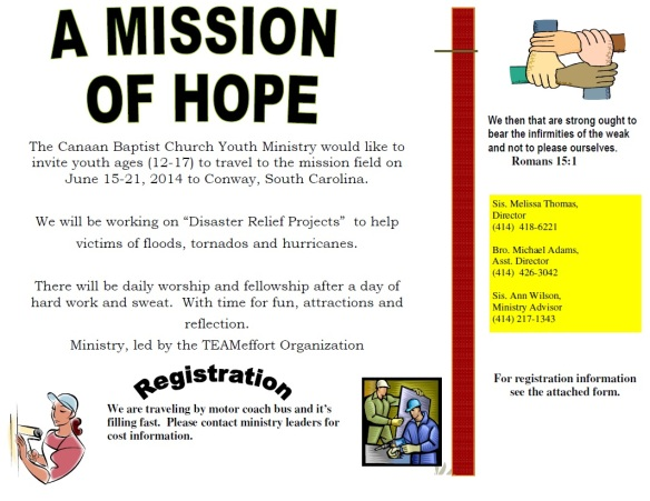 Disaster Relief Mission Trip